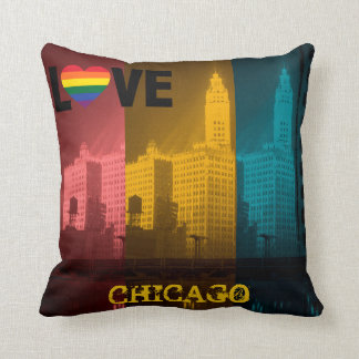 Chicago Gay Pride 1930's Wrigley Building Photo Throw Pillow