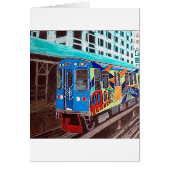 Chicago Graffiti El Train Card