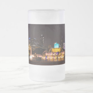 Chicago Grant Park Frosted Glass Beer Mug