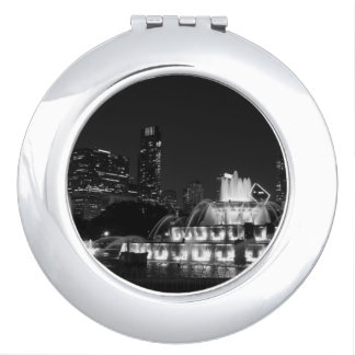 Chicago Grant Park Grayscale Makeup Mirror