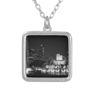 Chicago Grant Park Grayscale Silver Plated Necklace