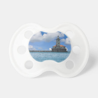 Chicago Harbor Lighthouse Painterly Baby Pacifier