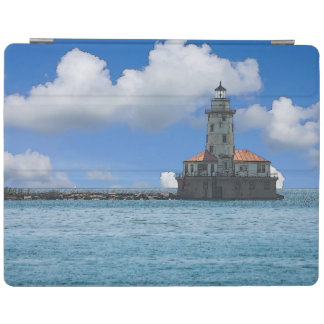 Chicago Harbor Lighthouse Painterly iPad Cover