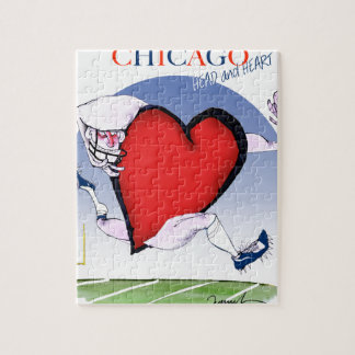 Chicago Head and Heart, tony fernandes Jigsaw Puzzle