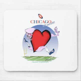 Chicago Head and Heart, tony fernandes Mouse Pad