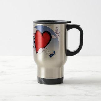Chicago Head and Heart, tony fernandes Travel Mug