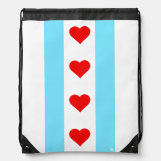 Chicago Heart Flag Vertical Backpack