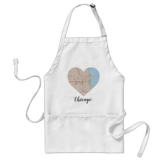 Chicago Heart Map Standard Apron