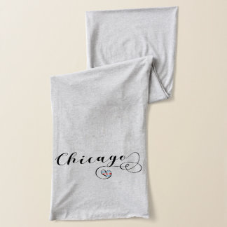 Chicago Heart Scarf, Illinois Scarf