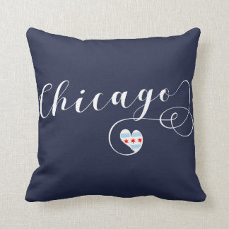 Chicago Heart Throw Pillow,  Illinois Throw Pillow