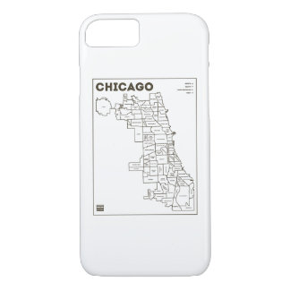Chicago 'Hoods Map Bold Star Phone Case