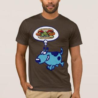 Chicago Hot Dog (blue cartoon dog) T-Shirt