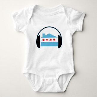 Chicago House Flag Headphones Baby Bodysuit