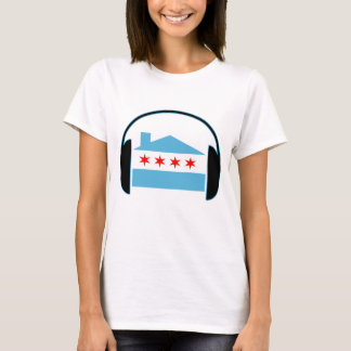 Chicago House Flag Headphones T-Shirt