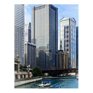 Chicago IL - Chicago River Near Wabash Ave. Bridge Post Cards