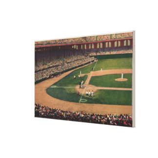 Chicago, IL - Comiskey Park, Home Plate, Basebal Gallery Wrapped Canvas