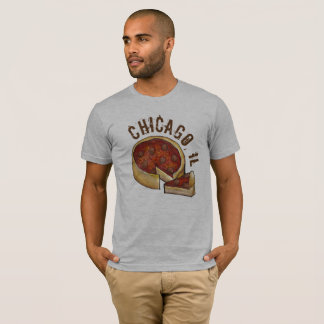 Chicago IL Illinois Deep Dish Pepperoni Pizza Food T-Shirt