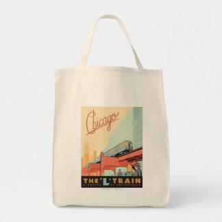 Chicago, IL - 'L' Train Tote Bag