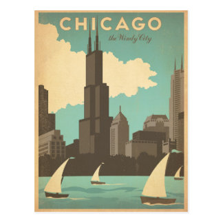 Chicago, IL - ville venteuse Cartes Postales