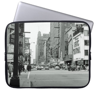 Chicago Illinois 1960's Oriental Theater Street Laptop Sleeve