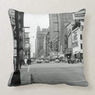 Chicago Illinois 1960's Oriental Theater Street Throw Pillow