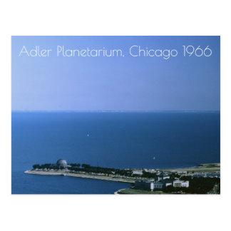 Chicago Illinois, Adler Planetarium Vintage 1966 Postcard