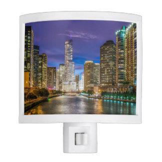 Chicago Illinois at night Nite Light