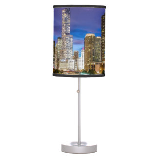 Chicago Illinois at night Table Lamp