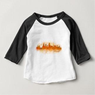 Chicago Illinois City Skyline v03 Baby T-Shirt