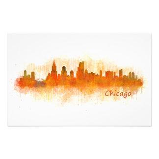 Chicago Illinois City Skyline v03 Stationery