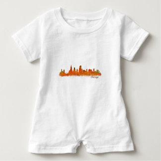 Chicago Illinois Cityscape Skyline Baby Romper