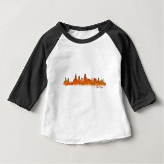 Chicago Illinois Cityscape Skyline Baby T-Shirt