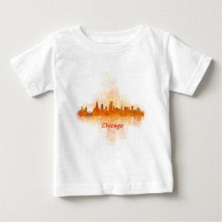 Chicago Illinois Cityscape Skyline Dark Baby T-Shirt