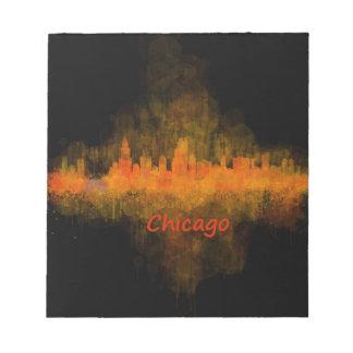 Chicago Illinois Cityscape Skyline Dark Notepad