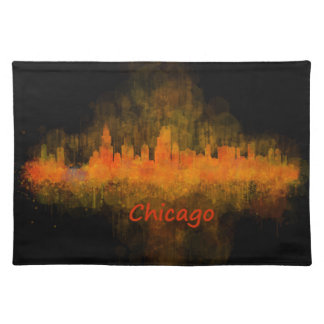 Chicago Illinois Cityscape Skyline Dark Placemat