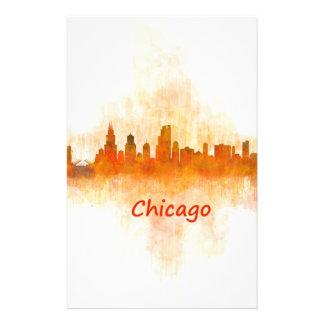 Chicago Illinois Cityscape Skyline Dark Stationery