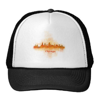 Chicago Illinois Cityscape Skyline Dark Trucker Hat