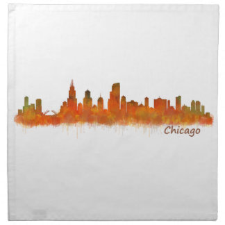 Chicago Illinois Cityscape Skyline Napkin