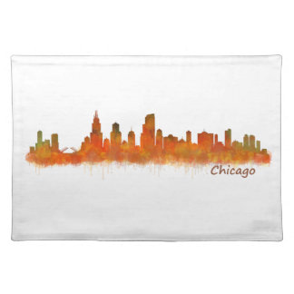 Chicago Illinois Cityscape Skyline Placemat