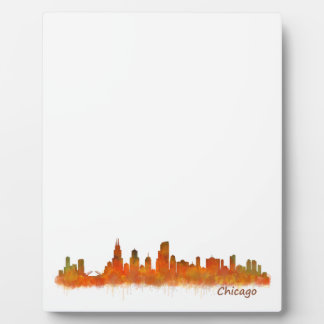 Chicago Illinois Cityscape Skyline Plaque