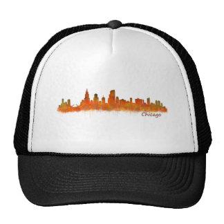 Chicago Illinois Cityscape Skyline Trucker Hat