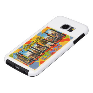 Chicago Illinois IL Old Vintage Travel Souvenir Samsung Galaxy S6 Cases