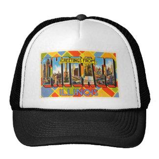 Chicago Illinois IL Old Vintage Travel Souvenir Trucker Hat