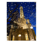 Chicago, Illinois, Old Water Tower with holiday Postcard