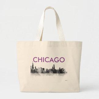 CHICAGO ILLINOIS SKYLINE - Jumbo Tote Bag