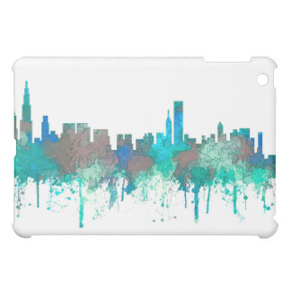 Chicago Illinois Skyline-SG-Jungle iPad Mini Cases