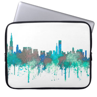 Chicago Illinois Skyline-SG-Jungle Laptop Sleeve