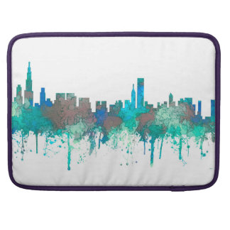 Chicago Illinois Skyline-SG-Jungle Sleeve For MacBook Pro