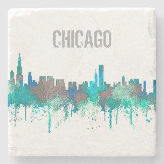 Chicago Illinois Skyline-SG-Jungle Stone Coaster