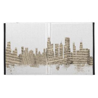 Chicago Illinois Skyline Sheet Music Cityscape iPad Folio Cover